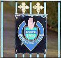 J3873 : Crest, Knock Bowling Club, Belfast (February 2015) by Albert Bridge