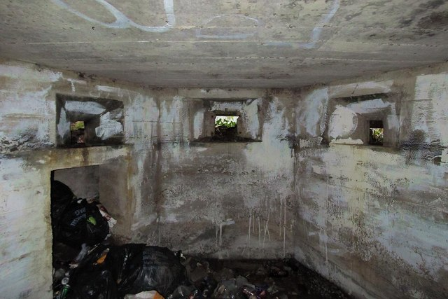 Interior of Pillbox in Clyne Valley