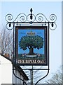 TL3513 : Sign for The Royal Oak, London Road / Hoe Lane, SG12 by Mike Quinn