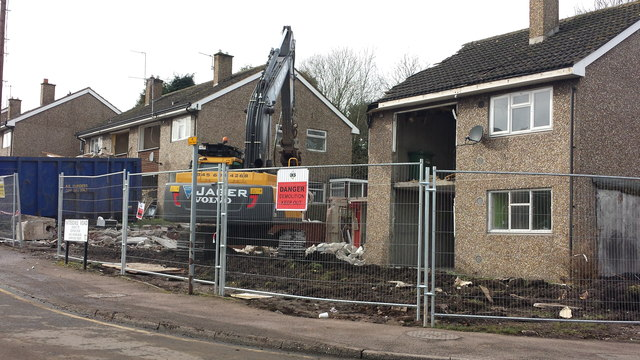 Chadsmoor, House demolition on Patterdale Road