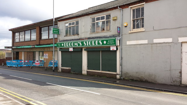 Derelict shops in Hightown, Hednesford