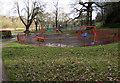 ST3190 : Colourful play circle in Grove Park, Malpas, Newport by Jaggery