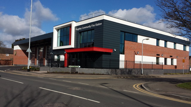 The new modern Rugeley fire station