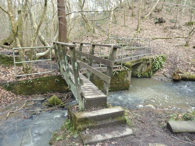 Bridge where issues join Dean Brook, Dean Wood