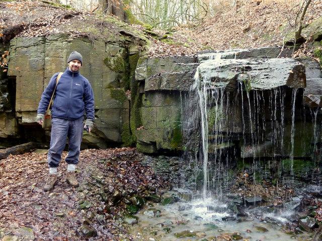Waterfall in Dean Wood, Gathurst