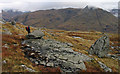 NN1451 : Rocks on declining slope of Beinn Maol Chaluim by Trevor Littlewood