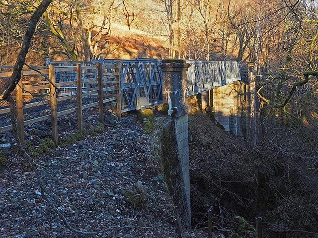 New Footbridge over the Glentarken Burn