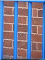 SP1286 : OS benchmark - Five Ways, school entrance by Richard Law