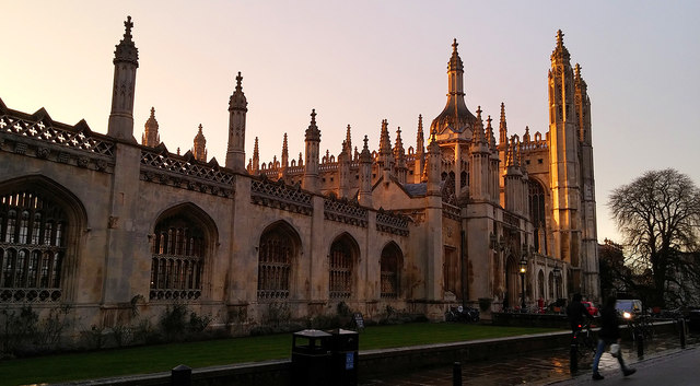 King's College, Cambridge, in the rain