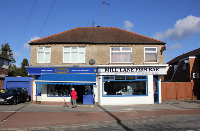 chatwins and mill lane fish bar the jeff buck cc by sa 2 0 geograph britain and ireland. Black Bedroom Furniture Sets. Home Design Ideas