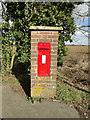 TM2570 : Victorian postbox in a brick pillar at Crown Corner by Adrian S Pye