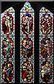 TL6467 : St Peter, Snailwell - Stained glass window by John Salmon