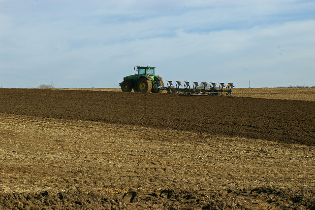 Spring Ploughing near Bonby Top Farm