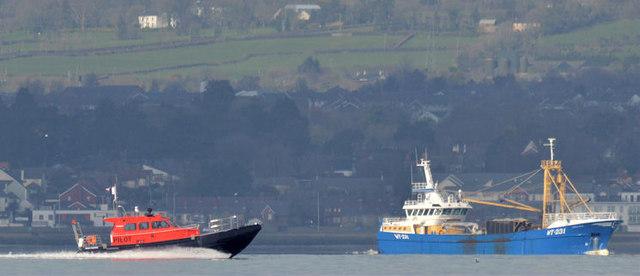 New pilot boat, Belfast Lough (March 2015)