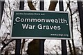 SP0588 : Commonwealth Graves sign, Key Hill Cemetery, Key Hill, Birmingham by P L Chadwick