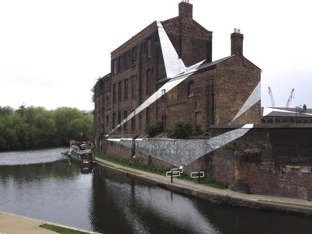 Wrapped in silver foil, Grand Union Canal