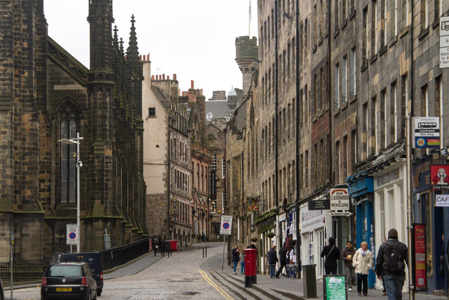 The narrowing Royal Mile