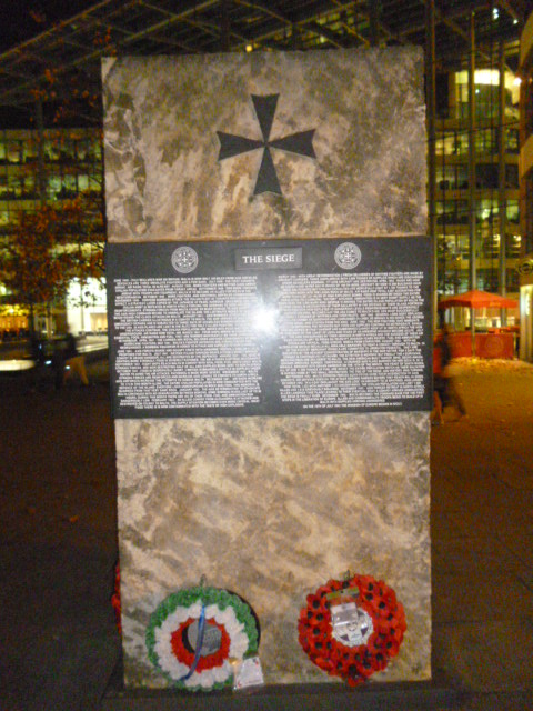 Siege of Malta Memorial, Byward Street EC3