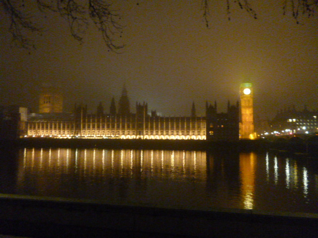 Foggy view of Westminster