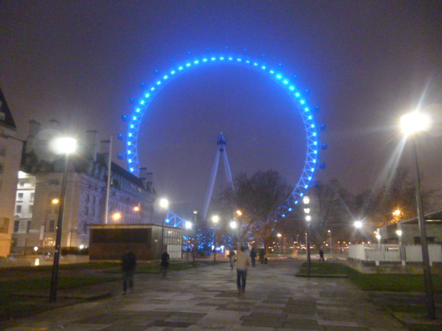 Illuminated London Eye