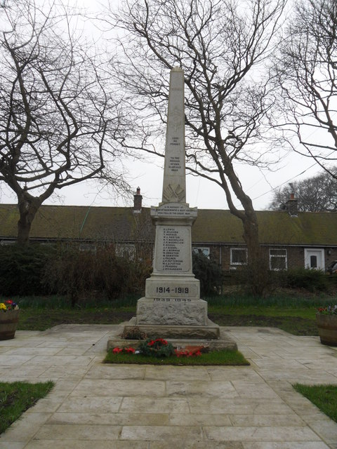 War Memorial, Backworth
