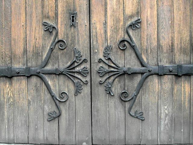 Elaborate door hinges, Bolton Priory