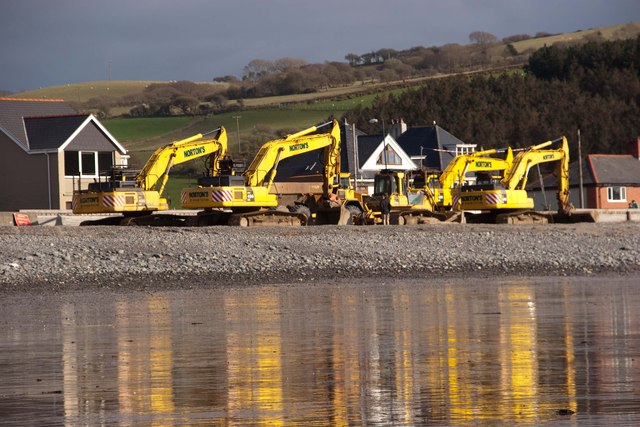 The last of the yellow machines