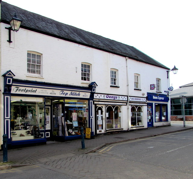 Shops at the northern end of High Street, Bromyard