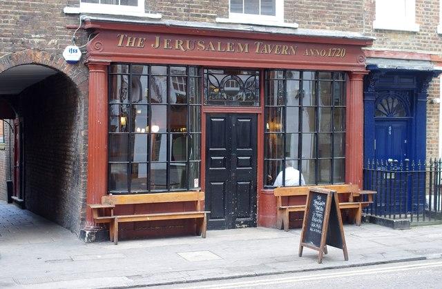 Pub Jerusalem Tavern à Londres.