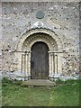 TM3896 : St Margaret's church doorway by David Purchase