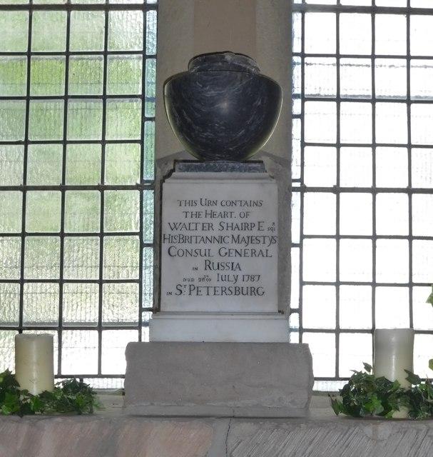 Walter Shairpe urn, Strathbrock Parish Kirk
