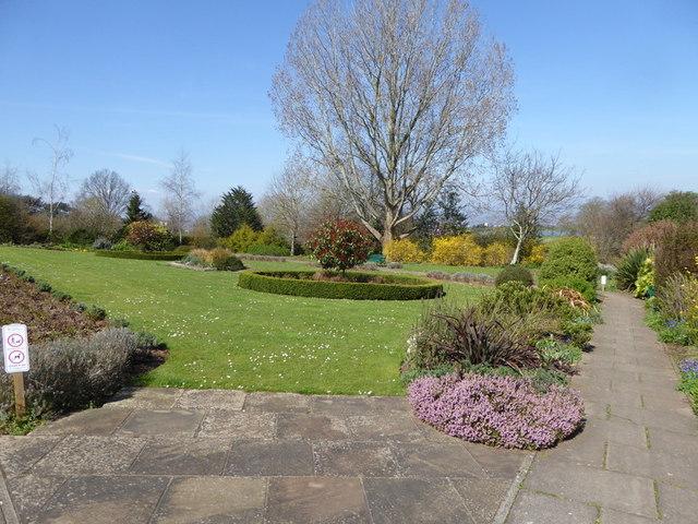 Gardens above Portishead Lake