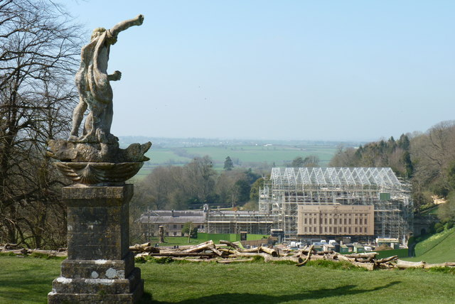 Neptune's view in 2015. Dyrham Park