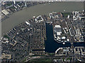 TQ3779 : Isle of Dogs from the air by Thomas Nugent