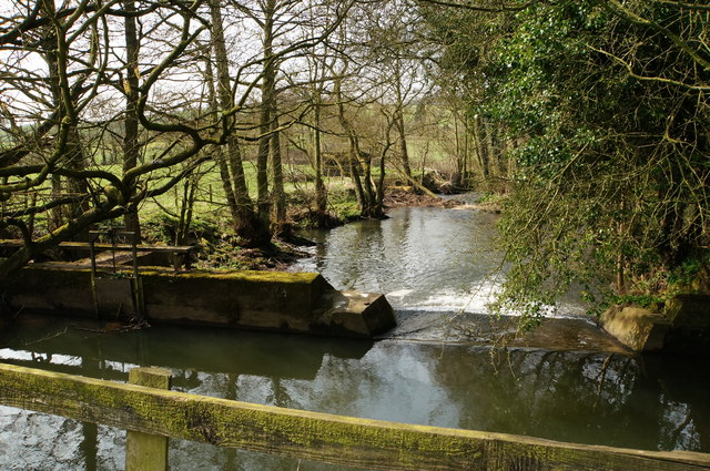 River Ecclesbourne, weir and drain