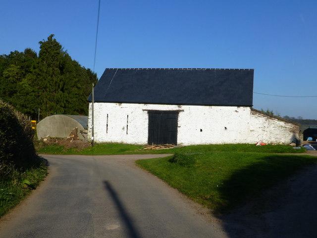 Old barn building at The Elms, north of Llandewi Rhydderch