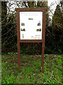 TM0567 : Bacton footpaths information board by Adrian Cable