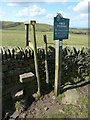 SJ9674 : Peak and Northern Footpaths Society sign by Dave Dunford