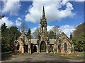 SJ8445 : Newcastle-under-Lyme cemetery chapels by Jonathan Hutchins