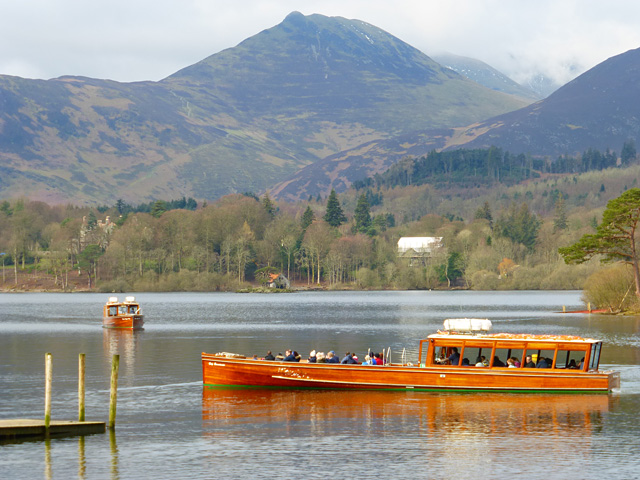 Launches coming and going on Derwentwater, Keswick