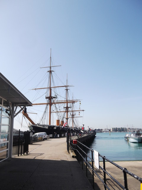 HMS Warrior and Jetty, Historic Dockyard, Portsmouth