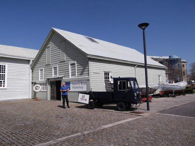 Boat workshop, College Road, Historic Dockyard, Portsmouth