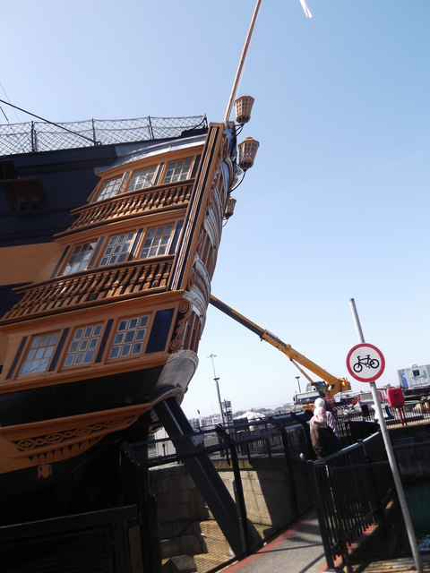 Stern footbridge, HMS Victory, Historic Dockyard, Portsmouth