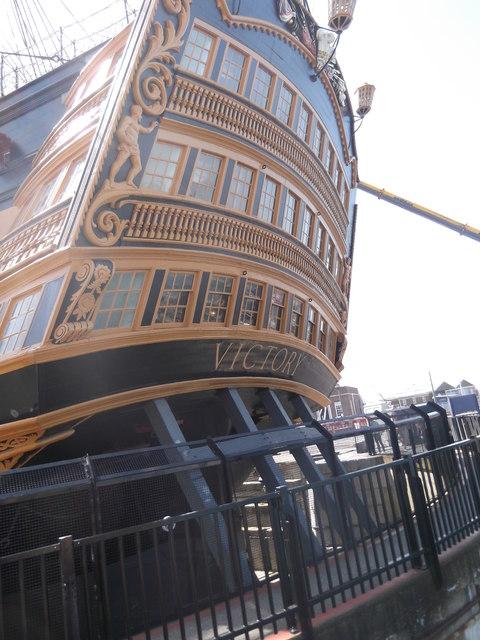Stern, HMS Victory, Historic Dockyard, Portsmouth