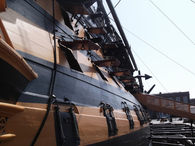 Starboard side, HMS Victory, Historic Dockyard, Portsmouth