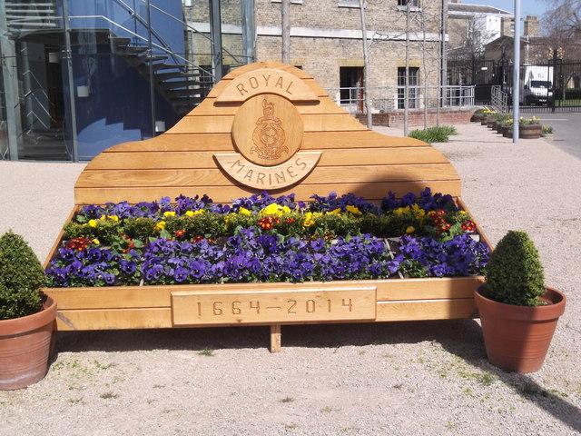Royal Marines flower box, Porter's Garden, Historic Dockyard, Portsmouth