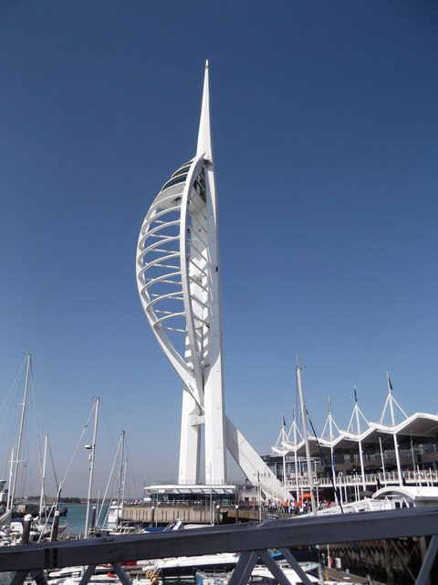 Spinnaker Tower from Millennium Walkway, Portsmouth