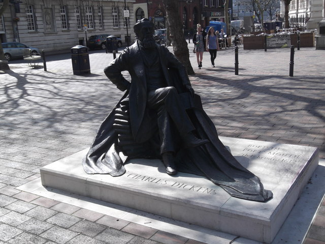 Charles Dickens statue, Guildhall Square, Portsmouth