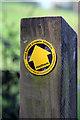 TQ7409 : Footpath arrow : Week 15