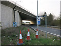TL4161 : Huntingdon Road to A14 slip road by Hugh Venables